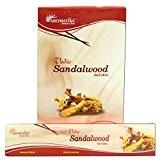 Encens Aromatika Sandalwood 12 boîtes Parfum Bois de Santal Bâtonnets d'encens indiens