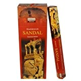 Encens Sandal Parfum Bois de Santal 6 boîtes Bâtonnets d'encens indien