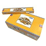Encens Satya Supreme Sandal 12 boîtes Parfum Bois de Santal Bâtonnets d'encens indiens