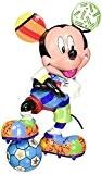 Enesco 4052558 Décoration de la Maison Disney Britto Mickey Football Plastique Multicolore 11 x 7 x 15 cm