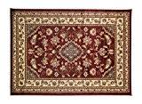 eRugs Très grand tapis oriental traditionnel de style persan - Motifs floraux – Rouge - 160x 230cm
