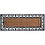 Esschert Design Paillasson grandes portes en caoutchouc et coco 120x45x1,5cm