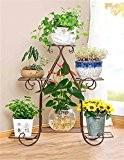 Étagère à fleurs de style européen en fer forgé, étagère de plantes, étagère à fleurs pour le balcon, salon, intérieur ...