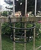 Etagère de Fleur Barres de fleurs en fer Balcon Gris Barrière Suspension Pot à fleurs Porte-paroi suspendu Fleur à rayures ...
