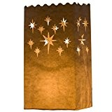 Etoile 10 x Sacs à bougie papier lanterne lampe luminaire blanc - Décoration pour fêtes, mariages, anniversaires par Kurtzy TM