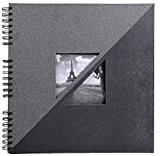 Exacompta 16755E Twist Album Photos à Spirales 60 Pages Noires Gris Foncé 32 x 32 cm