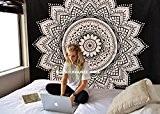 """exclusif """"Noir Blanc Twin Ombre Tapisserie par Raajsee"""" Ombre Parure de lit, Mandala Tapisserie, Queen, Multi Couleur indien Mandala Décoration ..."""