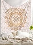 """Exclusif """"PRODUIT par Labhanshi Tapisserie Or Ombre Ombre Parure de lit, Tapisserie Mandala, reine indienne Mandala Mural Art bohème hippie ..."""