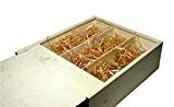 faba Home Boîte à vin en bois boîte cadeau avec couvercle coulissant, caisse en bois non traité, coffret cadeau, Bois, ...