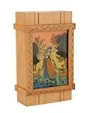 Fabriqué à la main Woodeb Gemme Lady Peinture Puzzle Box