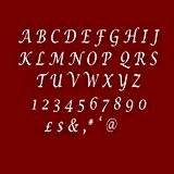 Facile à Stick 4lettres alphabet élégant/Miroir en acrylique effet Plaques pour faire un nom