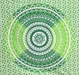 fairdecor crecent Lune Vert Ombre Double ombragées Mandala tapisseries mur tapisseries indien Mandala tapisseries Bohemian Tapisserie Couverture de plage ou ...