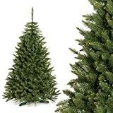 FAIRYTREES Arbre de Noël artificiel ÉPICÉA NATURE, matériau PVC, avec pied, 180cm, FT01-180