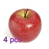 fendii 4réaliste artificiel pommes en Fruits Fashion Home Party Décor Cuisine