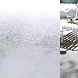 """Film Intimité pour Fenetre, Soriace® Transparent Film Fenêtre Anti Chaleur / Film Fenêtre / Film Occultant Adhésif Electrostatique (Transparent, 17.72""""×78.74"""")"""