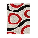 Finlandek tapis de salon orivesi 80x150 cm gris et rouge