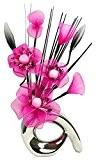 Flourish 793210 32 cm Mini Motif Vase et bouquet de fleurs artificielles Rose