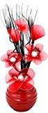 Flourish 796167 Fleurs artificielles en soie avec vase ovale pourpre noir violet 75cm