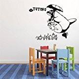 Flying Totoro en ciel Stickers Art Mural enfants Chambre Chambre de mur Décor Art Grand Mon voisin Totoro mural amovible ...
