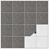 FoLIESEN® Autocollants de faience pour cuisine et salle de bain–15x 15cm–décor Stone n° 2 – Lot de 500