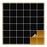 FoLIESEN Carrelage Adhésif pour cuisine et salle de bain 10x 10cm–Noir brillant–160Pièces