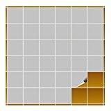 FoLIESEN Carrelage Adhésif pour cuisine et salle de bain–10x 10cm–gris clair mat–160Pièces
