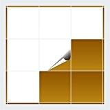 FoLIESEN Carrelage Adhésif pour cuisine et salle de bains–blanc brillant–20x 20cm–Lot de 10