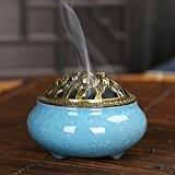 Fomccu en céramique Brûleur d'encens support Ornaments au bois de santal Cônes d'encens Brûleur pour Home Decor