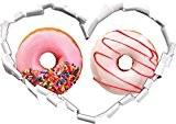forme de coeur glacé Donuts dans le regard 3D, mur ou une porte autocollant Format: 62x43.5cm, Stickers muraux, Stickers muraux, ...