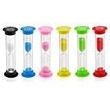 Foxnovo Sablier Hour Glass Horloge De Sable minuterie 30Secondes / 1Minutes / 2Minutes/ 3Minutes/ 5Minutes / 10 Minutes (x6)