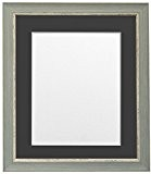 """Frames by Post Nordic Effet vieilli Bleu Cadre photo avec passe-partout Noir/noir, bleu, 50x70cm Pic Size 24""""x16"""""""