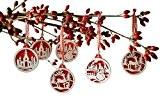 Frank Flechtwaren Lot de 18 décorations pour sapin de Noël