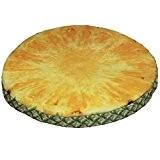 Galette de chaise Ronde Coussin décoratif tranche /rondelle de fruit Décor de Chaise Pouf de Décoration - Dimensions: env. Diam. ...