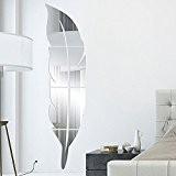 Garwarm 3D Moderne Créative Amovible Décoratif Acrylique Miroir Sans Frame Art Murale Autocollant Pour Bureau Home Decor de Salon Chambre ...