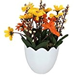 Garwarm Plante de Fleur Artificielle en Pot Décorative de Design Moderne Presque Naturelle avec Vase en Pot de Fleur pour ...