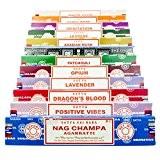 Genuine Satya Sai Baba - Gamelle Nag Champa MIX boîte cadeau C 12 x 15 g boîtes d'encens, Nag Champa, ...