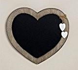 Geschenkestadl Tableau mémo style maison de campagne noir en forme de cœur, avec craie, dimensions : 30cm x 27cm, tableau ...