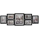 Giftgarden Cadre Photo Cadre en Bois Composite Décore Murale 7 Pièces