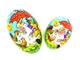 Gisela Graham Lot de 2 œufs de Pâques en Papier Motif Vintage-Boîte