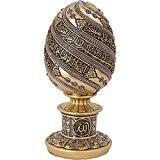 glace bleu clouté Décoration sur motif Golden Egg ayatul-kursi moulé en cristal–Cadeau islamique musulman