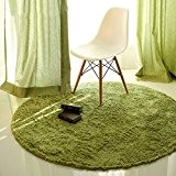 Global- Vert d'herbe, mode simple couleur unie ronde tapis table basse chambre à coucher tapis ordinateur chaise tapis ( couleur ...