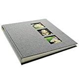 Goldbuch album photos, couverture personnalisable en lin gris souris, 31x30 cm, 60 pages, 27630