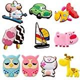 Gosear® 10 Pcs Réfrigérateur Magnet Set Silicone Cartoon Cute Animals Jouets Style Aléatoire