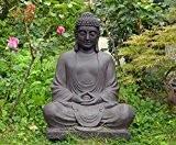 Grande Statue Bouddha Méditation 80 cm décoration zen pour intérieur/ extérieur, jardin zen
