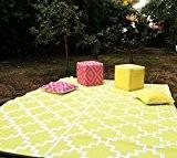 """Green Decore 240 x 300 cm """"Solitude"""" Tapis d'Intérieur et d'Extérieur Réversible en Plastique Recyclé, Indoor / Outdoor Tapis Écologique ..."""