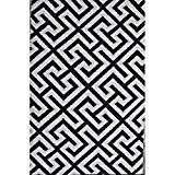 """Green Decore 90 x 150 cm """"Picket Fence"""" Tapis d'Intérieur et d'Extérieur Réversible en Plastique Recyclé, Indoor / Outdoor Tapis ..."""