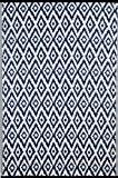 Green Decore Tapis léger Intérieur/extérieur réversible Plastique Tapis Bleu Espero \ Blanc–0,9x 1,5m (90x 150cm), bleu/blanc