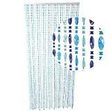 HAB & GUT (DV0376) rideau de porte Design : TWISTER, Coloris : AQUA, Matière : plastique, Taille : 90 x ...