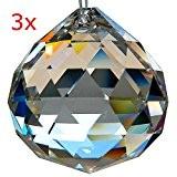 HAB & GUT ( G701-40 ) Lot de 3 Boules de Cristal au plomb, taille à facettes, haut de gamme, ...