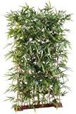 Haie artificielle Bambou New UV résistant - extérieur balcon terrasse - H. 185cm socle 95cm - taille : 185 cm